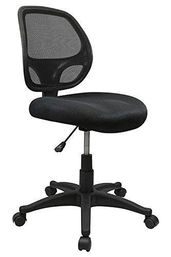 Nicer Furniture Mid Back Black Mesh Computer Chair Task Desk Chair