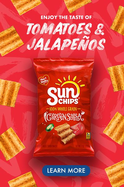 We've making waves with 100% whole grains and the taste of garden tomatoes and jalapeño peppers in SunChips Garden Salsa. Garden Tomatoes, Tomato Garden, Arrow Tattoos For Women, Sun Chips, Red Gel Nails, Unicorn Cross Stitch Pattern, Dubai Miracle Garden, Business Model Canvas, Diy Playground