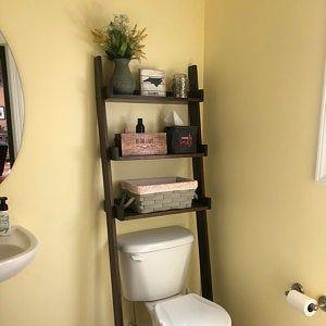 Two Over The Toilet Ladder Shelves Ladder Shelf Over The Toilet Ladder Shelves
