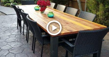 Diy Outdoor Dining Table Diy Diy Outdoor Table Outdoor Coffee