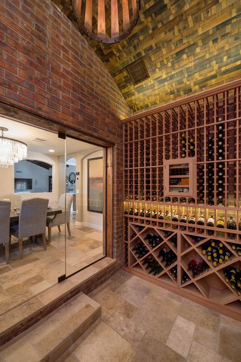 Scottsdale Arizona Custom Wine Cellar Designed By Heritage Vine Wine Cellar Design Cellar Design Wine Cellar