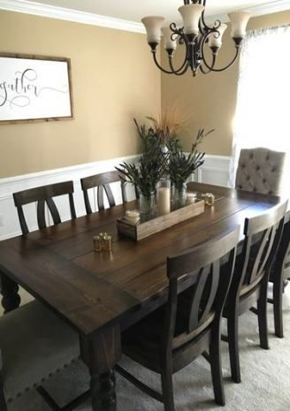 Trendy Kitchen Table Stain Colors Dark Walnut 58 Ideas Dining Room Table Centerpieces Dining Room Table Decor Dining Room Remodel