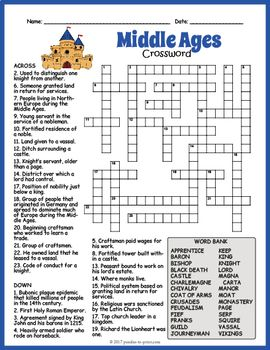No Prep Medieval Times Activity Middle Ages Crossword Puzzle Free Printable Crossword Puzzles Crossword Puzzle Crossword