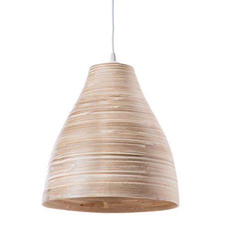 suspension bambou /ø 30 x H 33 cm blanc 60 W Luminaire Calcuta pm