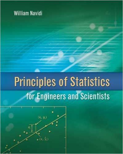 Solution Manual Principles Of Statistics For Engineers And Scientists 1st Edition Navidi Scientist Principles Solutions