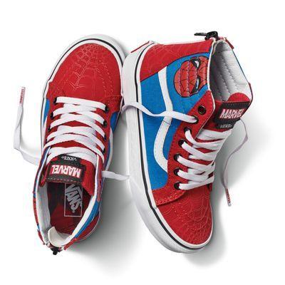 X Marvel Kids Sk8 Hi Zip | Shop | Marvel kids, Kid shoes