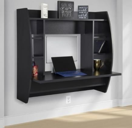 Best Wall Shelves Desk Products Ideas In 2020 Floating Desk Desk Storage Floating Storage Shelves