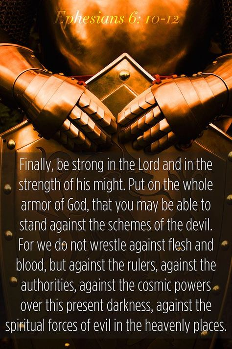 we are not fighting against flesh and blood