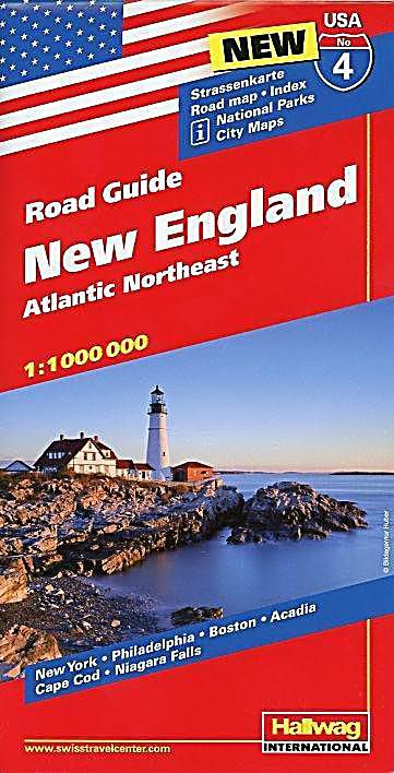 New England Strassenkarte 1 1 Mio Road Guide Nr 6 Karte Im