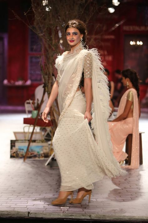 Generally fringed saree trend is assumed to be associated with western dressing, whereas with new trends, it's with sarees too.