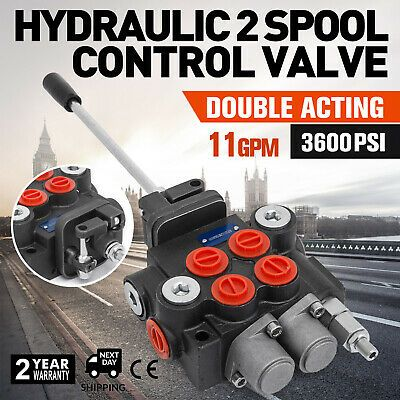 6 Spool Hydraulic Directional Control Valve 11gpm 40 L Double Acting Cylinder