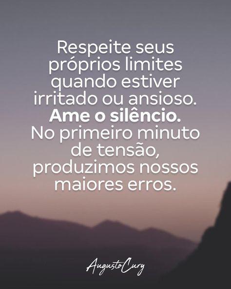 Devemos silenciar por fora para dialogar internamente, repensando nossas possíveis respostas e atitudes frente à situações onde poderíamos…