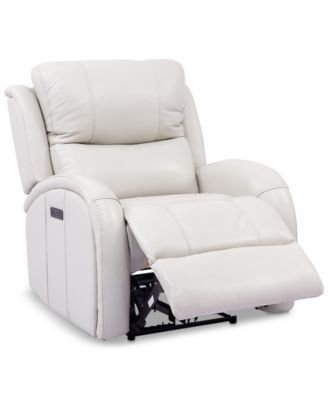 Cream Faux Leather Recliner Chair