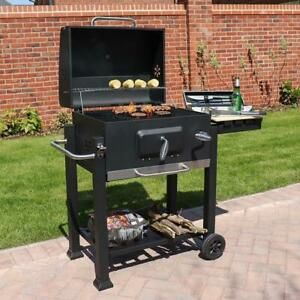 Black Charcoal Smoker Bbq American Style Barbecue Grill Grate Temp Gauge Wido Charcoal Bbq Portable Bbq Portable Barbecue