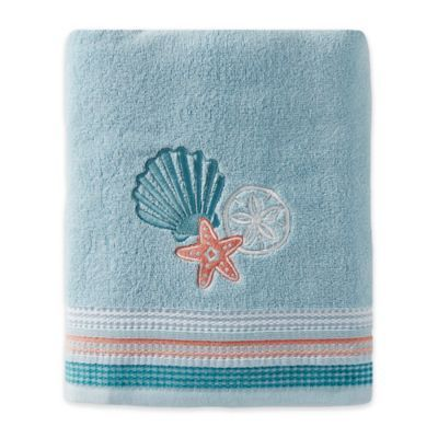 Seaside Harbor Bath Towel In Blue Towel Collection Bath Towels
