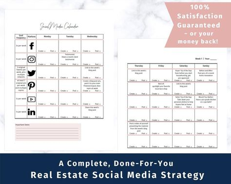 The Ultimate Real Estate Social Media Calendar - A done-for-you real estate social media calendar, specifically for real estate agents