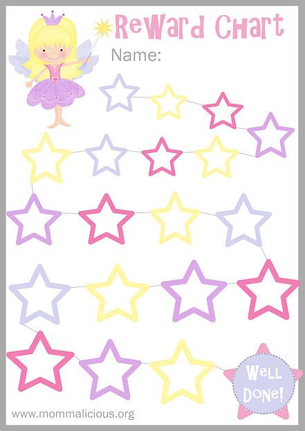 printable star chart for kids