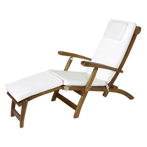 All Things Cedar Steamer Lounge Outdoor Cushion Lounge Chair Outdoor Teak Chaise Lounge Outdoor Cushions