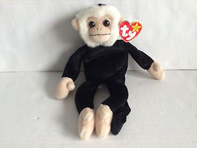 Ty Beanie Baby Mooch the Monkey with Hang Tag Hang Tag has Wear 8421042241   77104cd5e3d