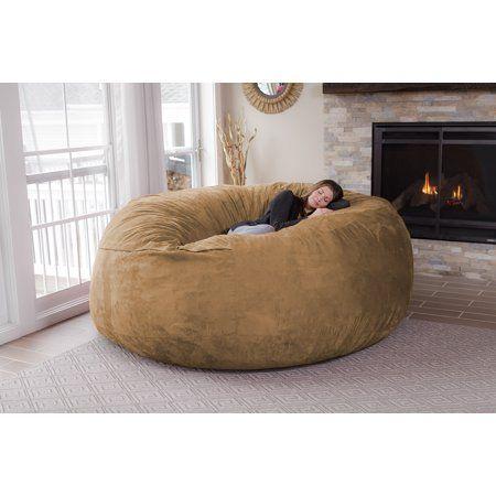 Tremendous Chill Sack Huge 8 Ft Bean Bag Multiple Colors Fabrics Machost Co Dining Chair Design Ideas Machostcouk