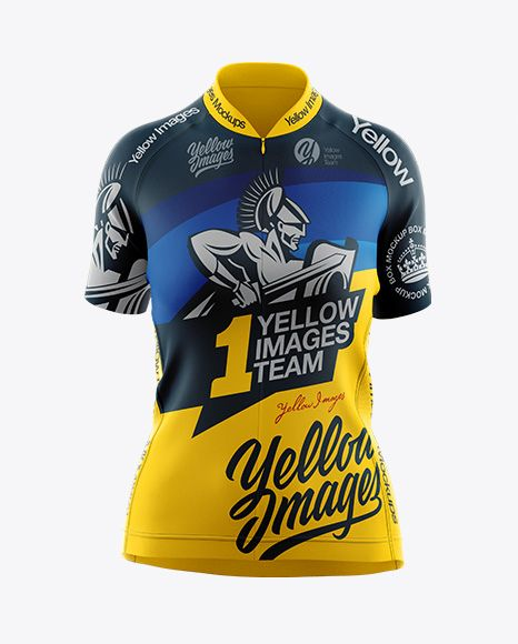 Download Women S Cycling Jersey Mockup Front View Object Mockups