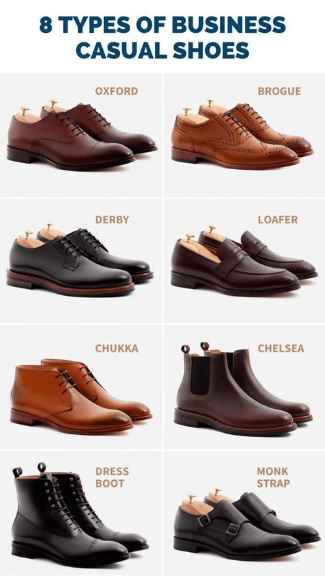 8 Best Business Casual Shoes for Men Guide] - The Modest Man What are the best business casual shoes for men to wear to the office? Which types of shoes *are not* appropriate for work? Check out this 2020 guide. Source by business casual outfits Best Business Casual Shoes, Mens Smart Casual Shoes, Mens Business Shoes, Best Shoes For Men, Stylish Mens Outfits, Mens Casual Dress Shoes, Casual Boots For Men, Suit Shoes, Mens Work Shoes