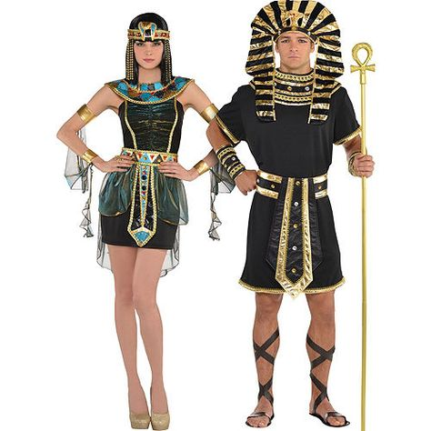 Become a royal couple who rules in Egyptian Couples Costumes! With headpieces and accessories, turn into King Tut and the Nile Goddess.