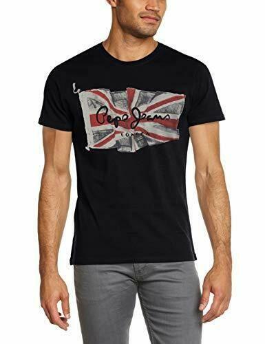 Pepe Jeans Flag Logo Camiseta para Hombre