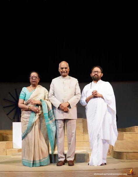#PujyaGurudevshri with Honourable President of India Shri Ram Nath Kovind