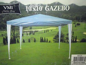 New In Box Blue Vmi Outdoor Living 10x10 Gazebo Canopy 10x10 Gazebo Gazebo Gazebo Canopy