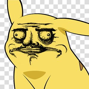 Pikachu Rage Comic Know Your Meme Trollface Meme Face Transparent Background Png Clipart Rage Comics Meme Faces Meme Rage Comics