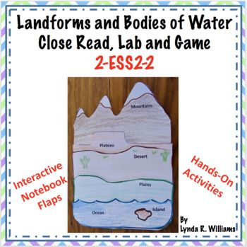 This Resource Addresses The Ngss Earth S Systems For 2nd Grade Ngss 2 Ess2 2 Develop A Model Landforms Lessons Landforms And Bodies Of Water Teaching Science Landform worksheet 2nd grade