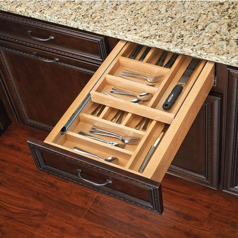 Rev A Shelf Two Tiered Kitchen Cutlery Drawers With Blumotion Soft