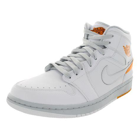 Nike Men's Jordan 1 Retro '86 /Kumquat/Pure Platinum Basketball Shoe