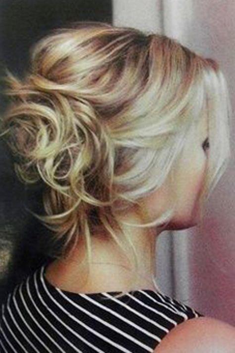 Coiffure mariage cheveux mi-longs chignon