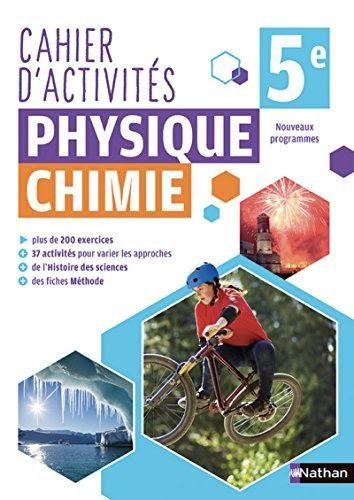 Telecharger Cahier De Physique Chimie 5e Pdf Ebook En Ligne Exercice Physique Chimie Physique Chimie Chimie