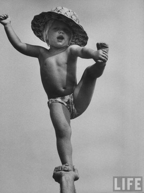 Cheerleading stunting, miss it!...maybe should start partner yoga