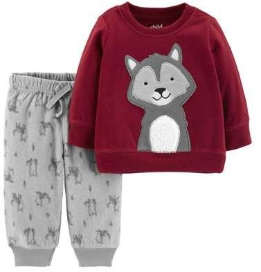239893ca3 Carter's Child of Mine by Long Sleeve Fleece Top & Jogger Pants, 2-Piece  Outfit Set (Toddler Boys)