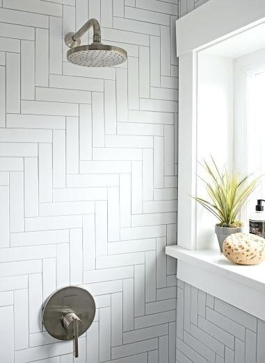 Long Subway Tiles Herringbone Tile Shower Long Sub