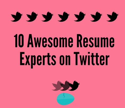 10 Resume Experts to Follow on Twitter Resume \ Cover Letter - resume experts