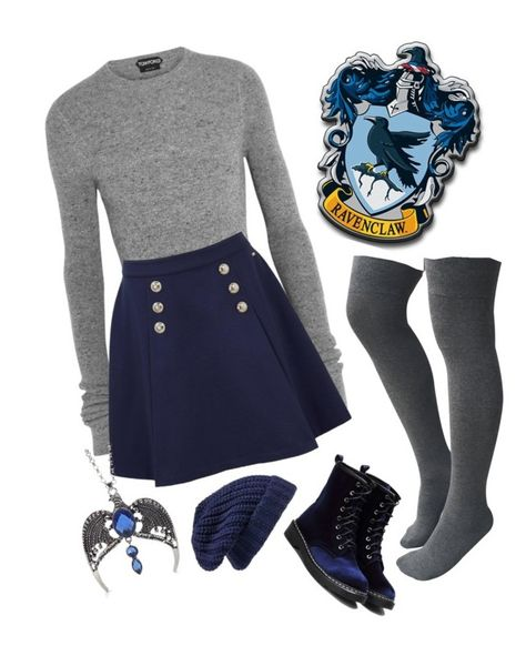 """""""Ravenclaw"""" featuring Tom Ford, Tommy Hilfiger and Hinge Nerd Fashion, Fandom Fashion, Teen Fashion Outfits, Mode Outfits, Fall Outfits, Casual Outfits, Cute Nerd Outfits, Christmas Outfits, Disney Fashion"""