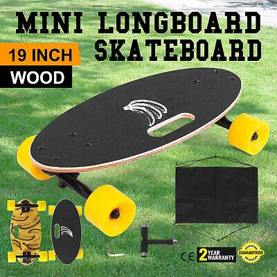 "Mini 19/"" Longboard Skateboard Cruiser Skateboard Banana Downhill Complete Fast"
