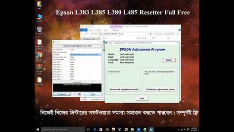 Epson L383 L385 L380 L485 Resetter Or Adjustment Program Full Download Epson Pdf Books Reading Download