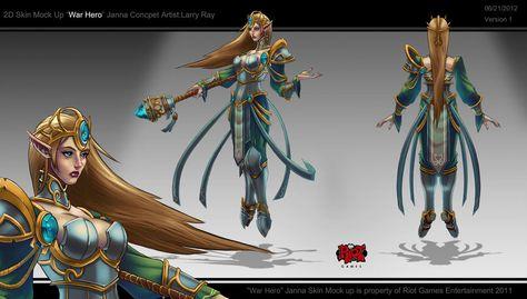 Janna/Background | League of legends, Hero, Character art