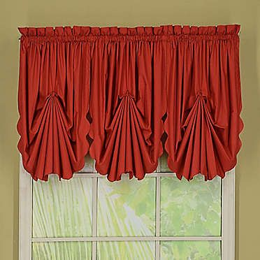 Orleans Tambour Scallop Edge Rod Pocket Window Curtain Panels And