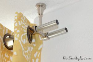 Ceiling Mount Double Curtain Rod Brackets Double Rod Curtains