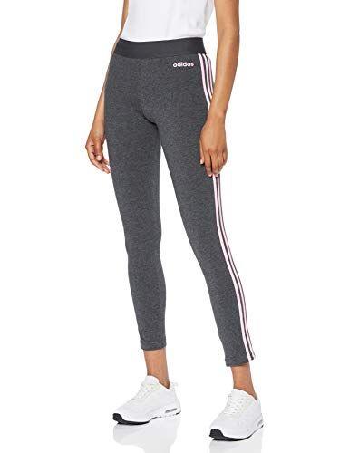 adidas Damen Essentials 3 Streifen Tights Dark Grey Heather