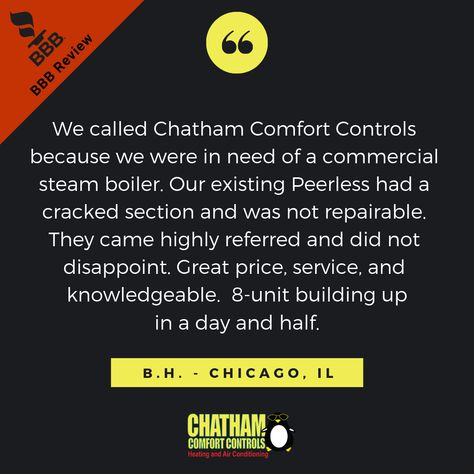 Chatham Comfort Controls Has An A Rating With The Better Business