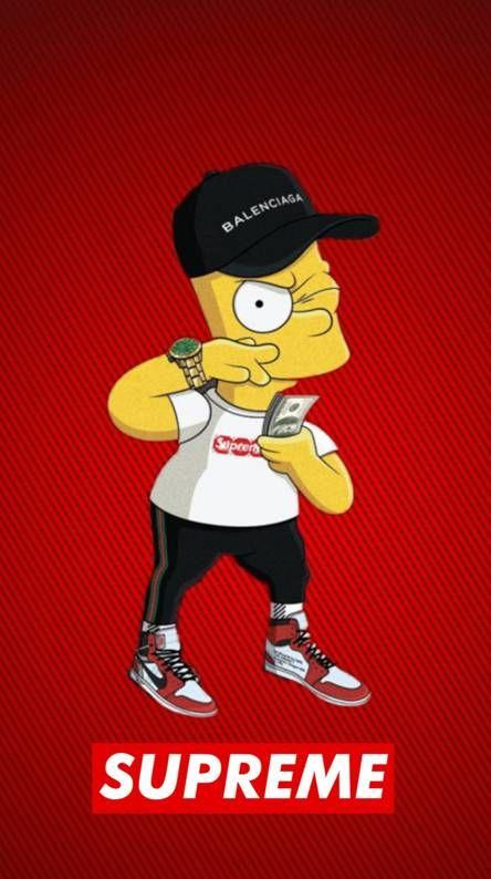 Bart Swagged Out Fondo De Pantalla De Supreme Fondos De