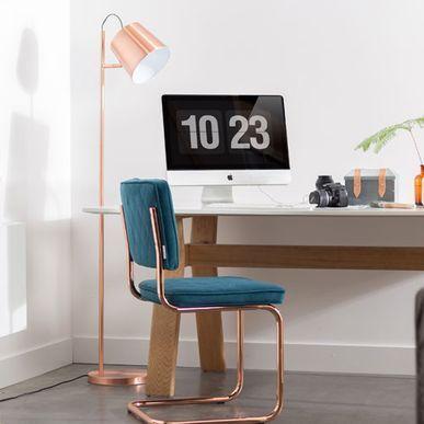 Lampadaire Inclinable En Metal Buckle Zuiver Cuivre Lampadaire Design Lampadaire Decoration Maison